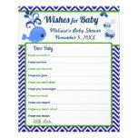 Blauwal-Babyparty-Wünsche für Baby-Rat Individuelle Flyer