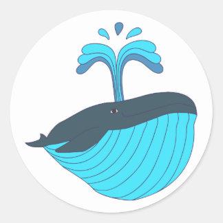 Blauwal blue whale runde sticker