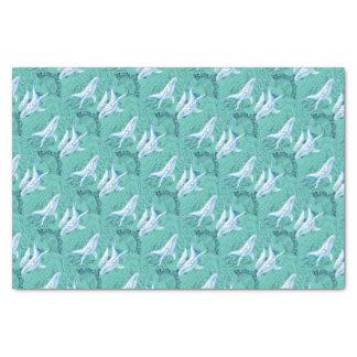 Blauwal-Familie aquamarin Seidenpapier