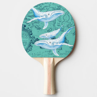 Blauwal-Familie aquamarin Tischtennis Schläger