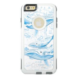 Blauwal-Familien-Weiß OtterBox iPhone 6/6s Plus Hülle