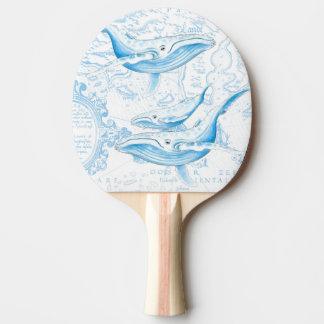 Blauwal-Familien-Weiß Tischtennis Schläger