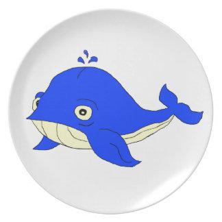 Blauwal Flache Teller