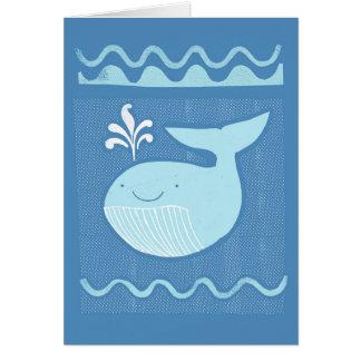 Blauwal Grußkarte
