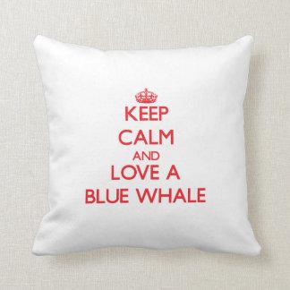 Blauwal Zierkissen