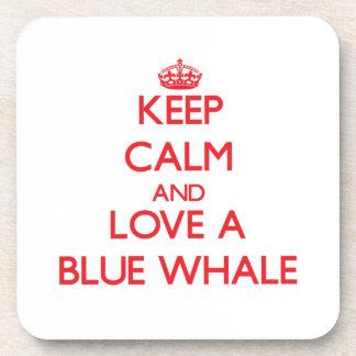 Blauwal Getränke Untersetzer