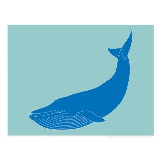 Blauwal-Meeressäugetier-Tier-Ozeane Postkarte