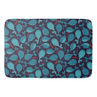 Blauwal-Muster Badematte