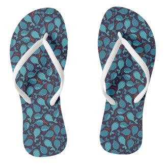 Blauwal-Muster Flip Flops