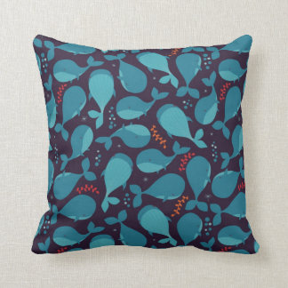 Blauwal-Muster Kissen