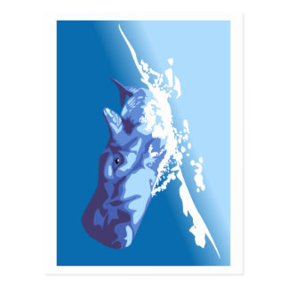 Blauwal Postkarte