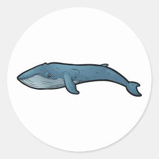 Blauwal Runder Aufkleber
