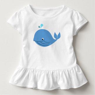 Blauwal-Rüsche-T-Stück Kleinkind T-shirt