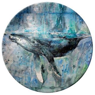 Blauwal-Sammlung Porzellanteller