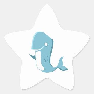 Blauwal Stern Aufkleber