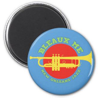 Bleaux ich - New- Orleansjazz Runder Magnet 5,7 Cm