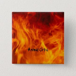 Blech on fire quadratischer button 5,1 cm