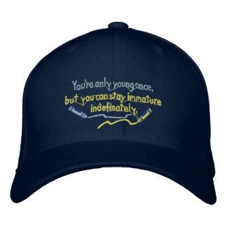 Bleiben des unreifen Hutes Bestickte Mütze