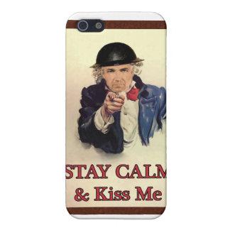 Bleiben Sie Ruhe u. küssen Sie mich iPhone 5 Cover