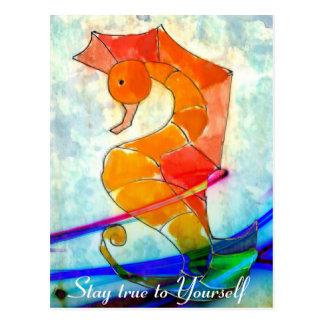 Bleiben Sie wahr zu selbst - Postkarte