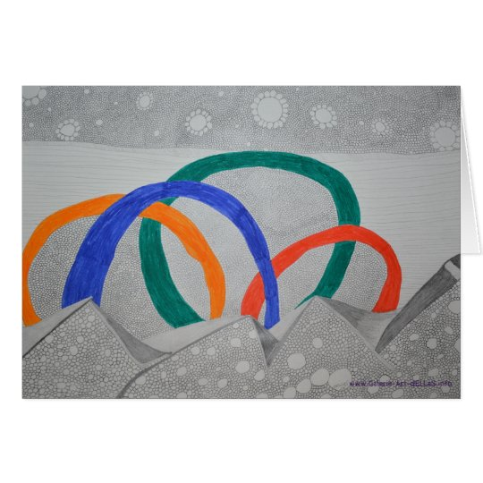 Bleistift abstrakt karte
