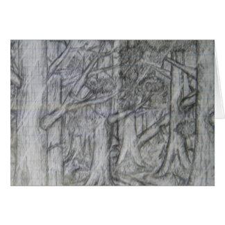 Bleistift, der Natur-Karte zeichnet Grußkarte