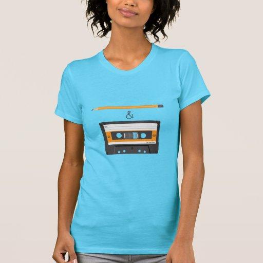 Bleistift u. kompakte Kassette T Shirt