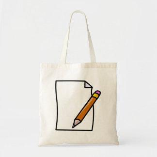 Bleistift und Auflage Tragetaschen