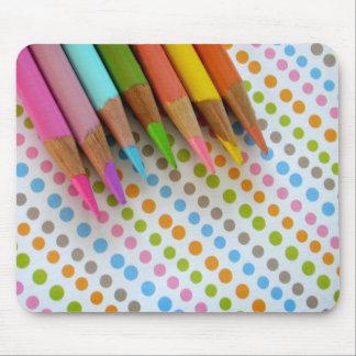 Bleistifte und TupfenMausunterlage Mousepad