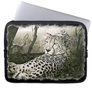 Blendend Gepard-Digital-Kunst-Hülsen-Kasten Laptopschutzhülle