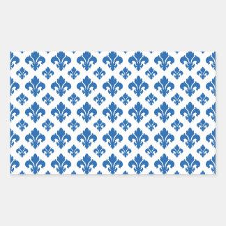Blendungs-Blau der Lilien-2 Rechteckiger Aufkleber