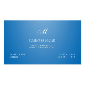 Blendungs-blaues elegantes und Monogramm Visitenkarten