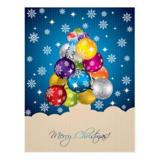Blendungs-Schneefälle auf mehrfarbigem Postkarte