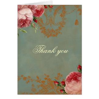 Blenheim Rose danken Ihnen Grußkarte
