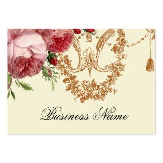 Blenheim Rose, Elfenbein, Visitenkarten Vorlage