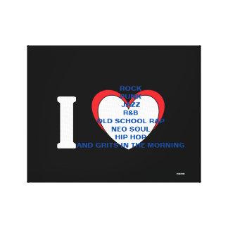 BLERD Musik-alle Liebe, Liebe ist Leinwanddruck