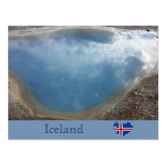 Blesi heiße Quelle, Haukadalur, Island Postkarte