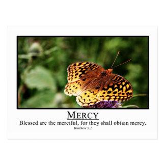 Blessed sind das barmherzige Matthew-5:7 Postkarte