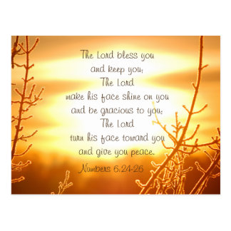 Blessing Bible Verse Postcard Lords Postkarte