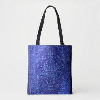 Blick des persischen Teppichs im Blau Tasche