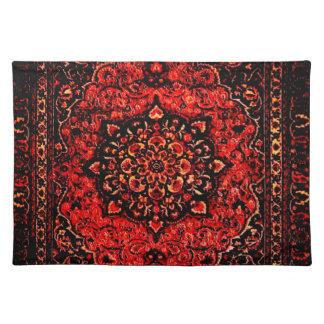 Blick des persischen Teppichs in der Rose tönte Tischset