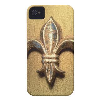 Blick-Druckkasten der Lilie metallischer Gold iPhone 4 Hüllen