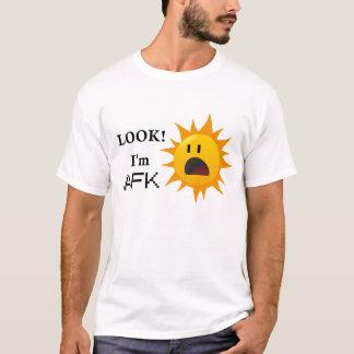 """""""Blick! Ich bin AFK"""" T-Stück - Weiß T-Shirt"""