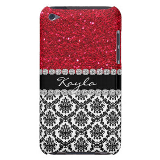 BLICK IPOD BLING KRISTALLdamast-Entwurf FALL iPod Touch Case-Mate Hülle