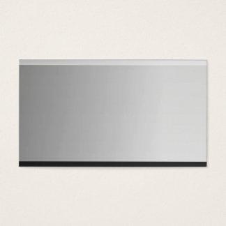 Blick-MetallVisitenkarten des Silber-3d Visitenkarten
