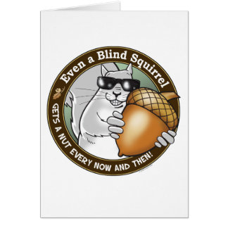 Blinde Eichhörnchen-Nuss Karte