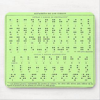 Blindenschrift-Alphabet-Mausunterlage Mousepads