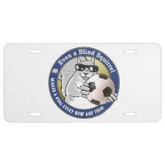 Blinder Eichhörnchen-Fußball US Nummernschild