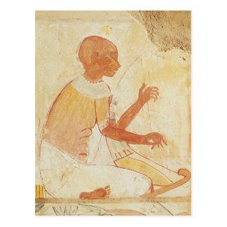 Blinder singender Harpist, vom Grab von Nakht Postkarte