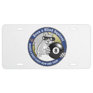 Blindes Eichhörnchen-Pool US Nummernschild